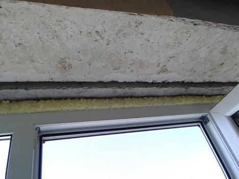Верхний откос окна
